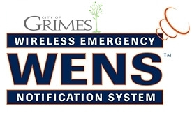 grimes alert notification signup page